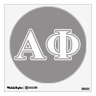 Alpha Phi Wall Decals Stickers Zazzle