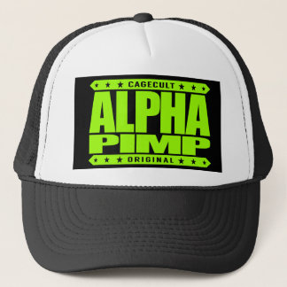 ALPHA PIMP - Silicon Valley Angel Investor, Lime Trucker Hat