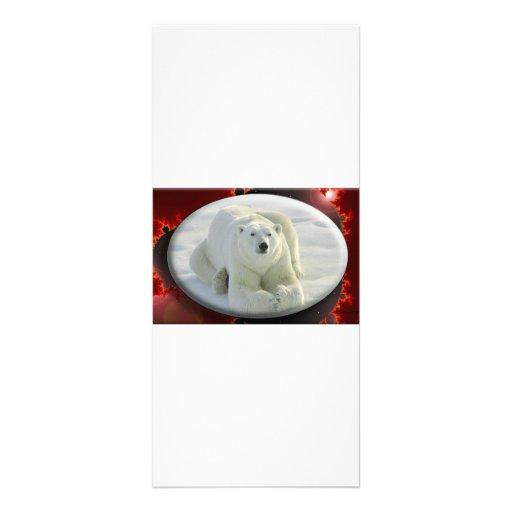 ALPHA POLAR BEAR RACK CARD TEMPLATE