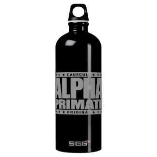 ALPHA PRIMATE - I'm Aggressive If Provoked, Silver Water Bottle