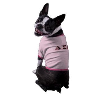 Alpha Sigma Alpha Black an Red Letters Dog Tshirt
