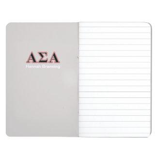 Alpha Sigma Alpha Black an Red Letters Journals