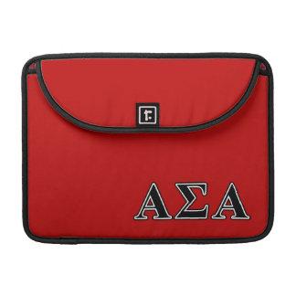 Alpha Sigma Alpha Black Letters Sleeves For MacBooks