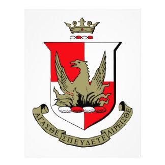 "Alpha Sigma Alpha Crest 8.5"" X 11"" Flyer"