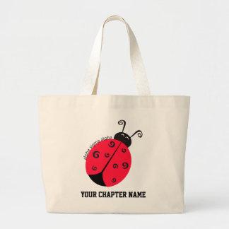 Alpha Sigma Alpha Ladybug Canvas Bags