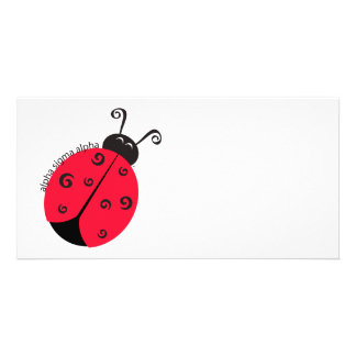 Alpha Sigma Alpha Ladybug Card