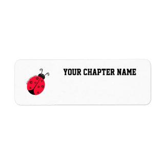 Alpha Sigma Alpha Ladybug Return Address Label