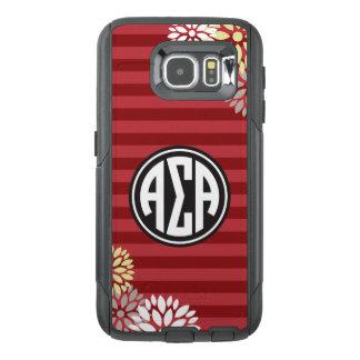 Alpha Sigma Alpha | Monogram Stripe Pattern OtterBox Samsung Galaxy S6 Case