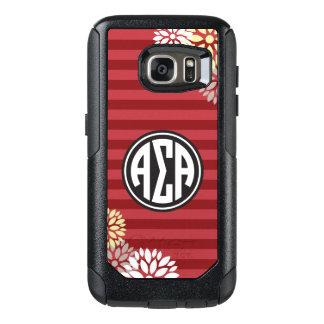 Alpha Sigma Alpha | Monogram Stripe Pattern OtterBox Samsung Galaxy S7 Case