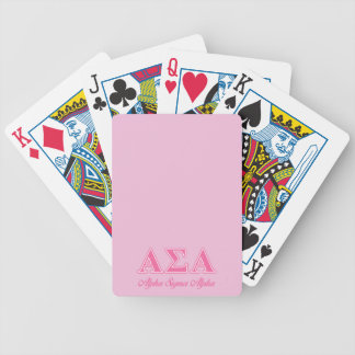 Alpha Sigma Alpha Pink Letters Bicycle Card Deck