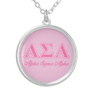 Alpha Sigma Alpha Pink Letters Custom Jewelry