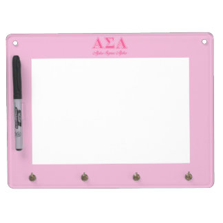 Alpha Sigma Alpha Pink Letters Dry Erase Whiteboard
