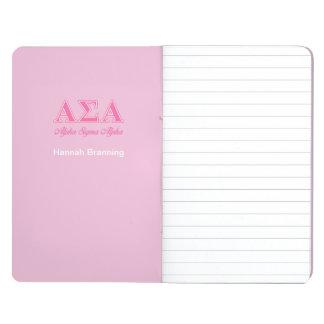 Alpha Sigma Alpha Pink Letters Journals