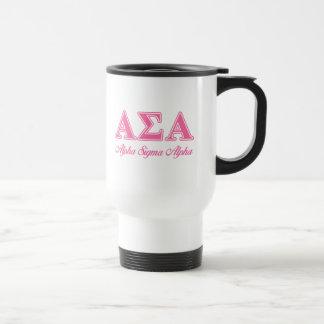 Alpha Sigma Alpha Pink Letters Mug