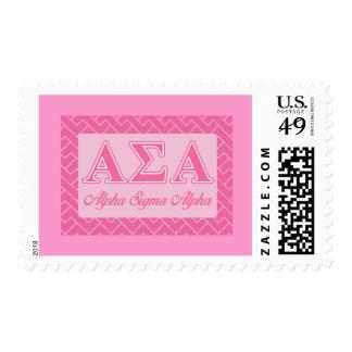 Alpha Sigma Alpha Pink Letters Stamp