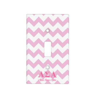 Alpha Sigma Alpha Pink Letters Switch Plate Covers