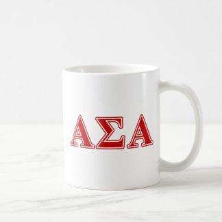 Alpha Sigma Alpha Red Letters Coffee Mug