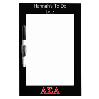 Alpha Sigma Alpha Red Letters Dry Erase Whiteboards