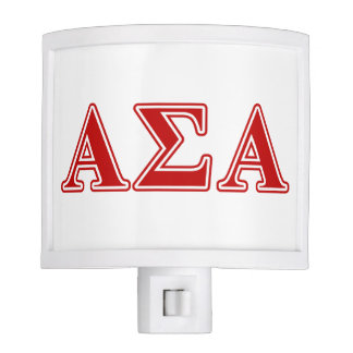 Alpha Sigma Alpha Red Letters Night Lites