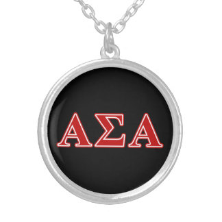 Alpha Sigma Alpha Red Letters Pendants