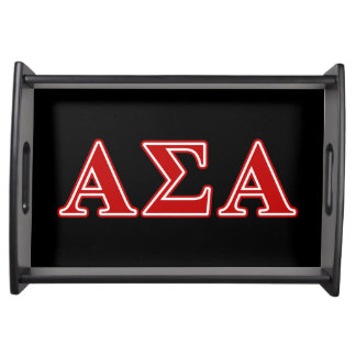 Alpha Sigma Alpha Red Letters Serving Tray