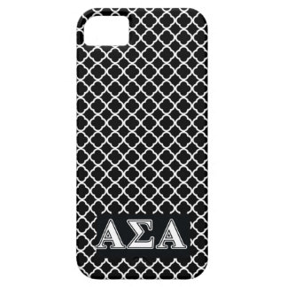 Alpha Sigma Alpha White and Black Letters iPhone 5 Case