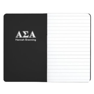 Alpha Sigma Alpha White and Black Letters Journals