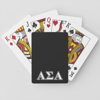 Alpha Sigma Alpha White and Black Letters Card Decks