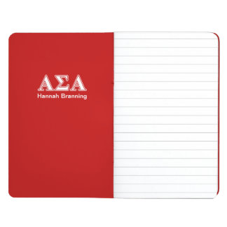 Alpha Sigma Alpha White and Red Letters Journals