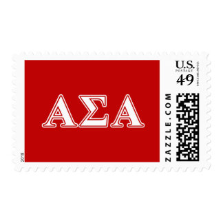 Alpha Sigma Alpha White and Red Letters Postage