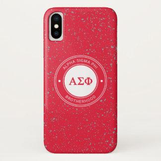 Alpha Sigma Phi   Badge iPhone X Case