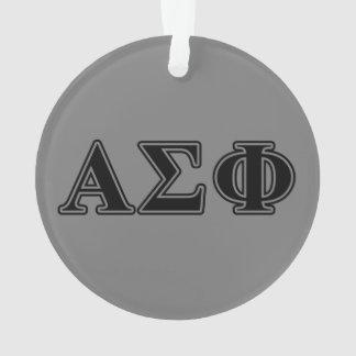 Alpha Sigma Phi Black Letters