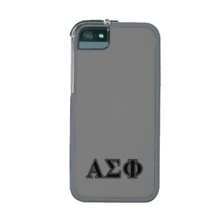 Alpha Sigma Phi Black Letters Case For iPhone 5/5S