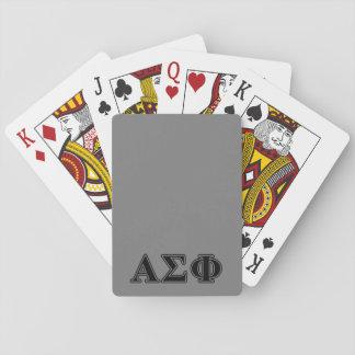 Alpha Sigma Phi Black Letters Deck Of Cards