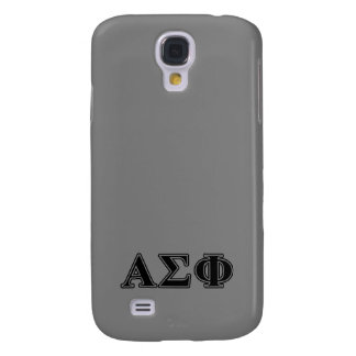 Alpha Sigma Phi Black Letters Galaxy S4 Covers