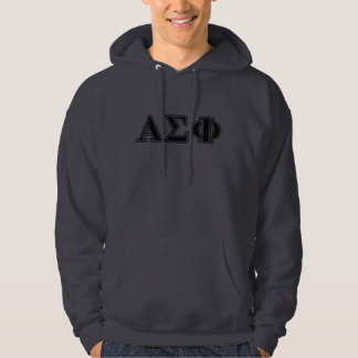 Alpha Sigma Phi Black Letters Hoodie