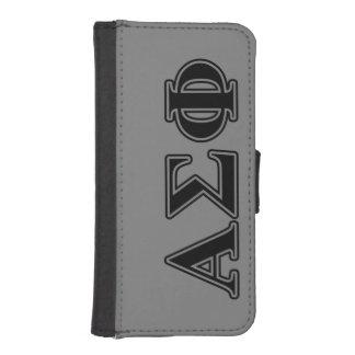 Alpha Sigma Phi Black Letters iPhone SE/5/5s Wallet