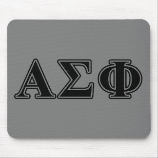 Alpha Sigma Phi Black Letters Mousepads