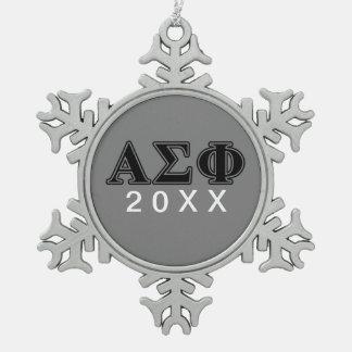 Alpha Sigma Phi Black Letters Ornament