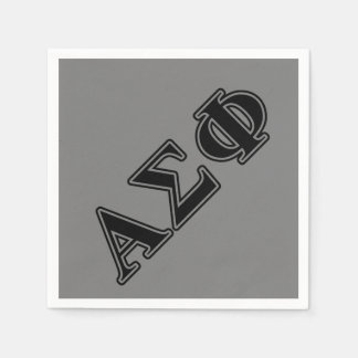 Alpha Sigma Phi Black Letters Paper Napkin