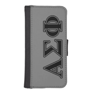 Alpha Sigma Phi Black Letters iPhone 5 Wallet Cases