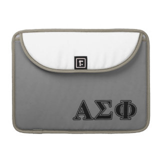 Alpha Sigma Phi Black Letters Sleeves For MacBooks