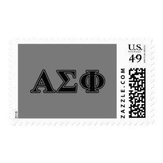 Alpha Sigma Phi Black Letters Stamp