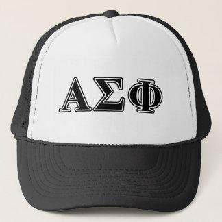 Alpha Sigma Phi Black Letters Trucker Hat