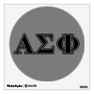 Alpha Sigma Phi Black Letters Wall Sticker