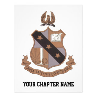 "Alpha Sigma Phi Crest 8.5"" X 11"" Flyer"