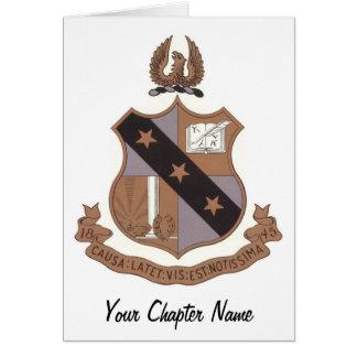 Alpha Sigma Phi Crest Greeting Card