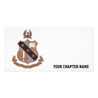 Alpha Sigma Phi Crest Photo Greeting Card