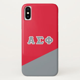 Alpha Sigma Phi   Greek Letters iPhone X Case