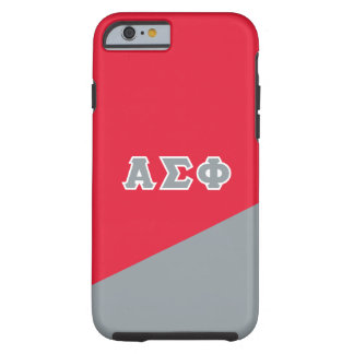 Alpha Sigma Phi | Greek Letters Tough iPhone 6 Case